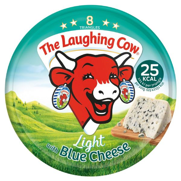 Laughing Cow Light Blue Cheese Triangles 128g